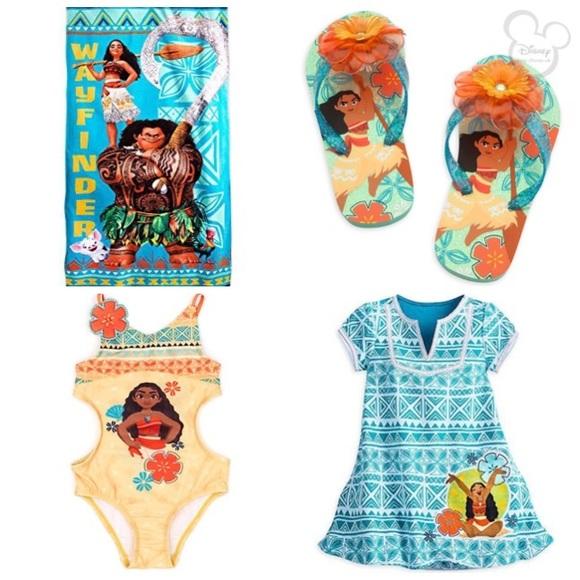 41a6858e203775 Disney Other - Disney store moana 4 piece swim set Sz 7 8